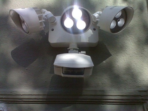 Motion Sensor Light Fixture With LED Lamps, Or Light Bulbs, Which Will  Generally Provide Less Light Output As Compared To Halogen.